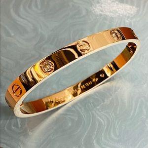 """Rose Gold Love Bracelet 1.5"""" Diameter"""
